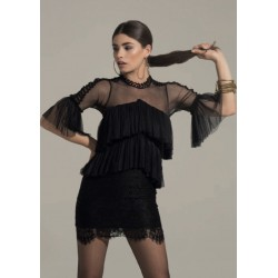 TOPLESS - Abito Tulle e Pizzo